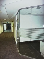 All-glass walls
